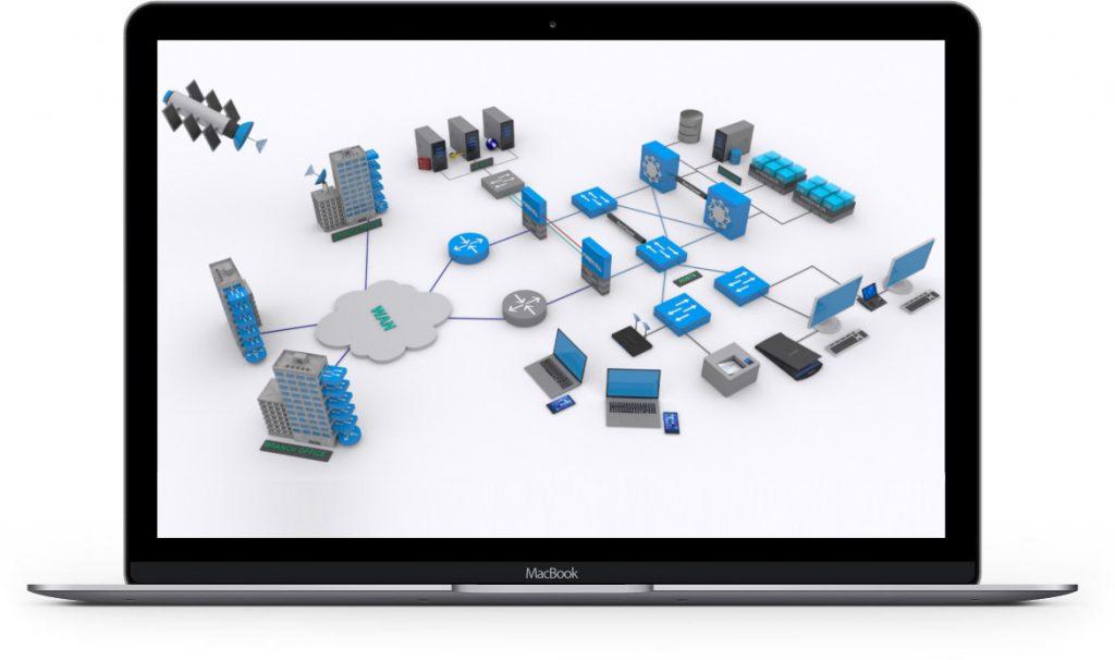 MacBook Network 3D